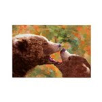 Grizzly Bear Mom and C Rectangle Magnet (100 pack)