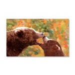 Grizzly Bear Mom and Cub Car Magnet 20 x 12