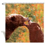 Grizzly Bear Mom and Cub Shower Curtain