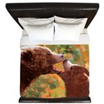 Grizzly Bear Mom and Cub King Duvet