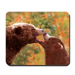 Grizzly Bear Mom and Cub Mousepad