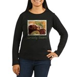 Grizzly Bear Mom Women's Long Sleeve Dark T-Shirt