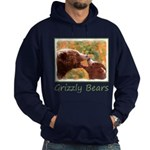 Grizzly Bear Mom and Cub Hoodie (dark)