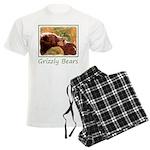 Grizzly Bear Mom and Cub Men's Light Pajamas