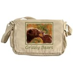 Grizzly Bear Mom and Cub Messenger Bag