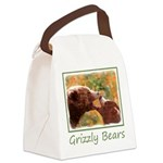 Grizzly Bear Mom and Cub Canvas Lunch Bag