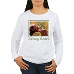 Grizzly Bear Mom and C Women's Long Sleeve T-Shirt