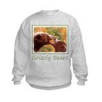 Grizzly Bear Mom and Cub Kids Sweatshirt