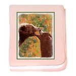 Grizzly Bear Mom and Cub baby blanket