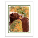 Grizzly Bear Mom and Cub Small Poster