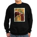 Grizzly Bear Mom and Cub Sweatshirt (dark)