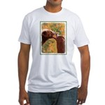 Grizzly Bear Mom and Cub Fitted T-Shirt