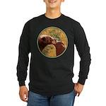 Grizzly Bear Mom and Cub Long Sleeve Dark T-Shirt