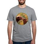Grizzly Bear Mom and Cub Mens Tri-blend T-Shirt