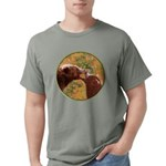 Grizzly Bear Mom and Cub Mens Comfort Colors Shirt