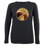 Grizzly Bear Mom and Cub Plus Size Long Sleeve Tee