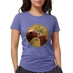 Grizzly Bear Mom and Cub Womens Tri-blend T-Shirt