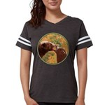 Grizzly Bear Mom and Cub Womens Football Shirt
