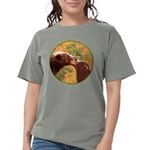 Grizzly Bear Mom and C Womens Comfort Colors Shirt