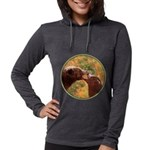 Grizzly Bear Mom and Cub Womens Hooded Shirt