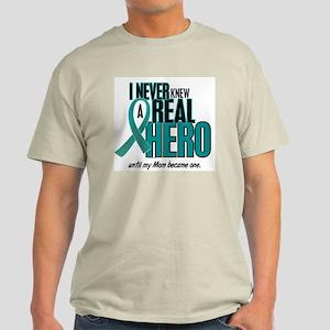 Never Knew A Hero 2 Teal (Mom) Light T-Shirt