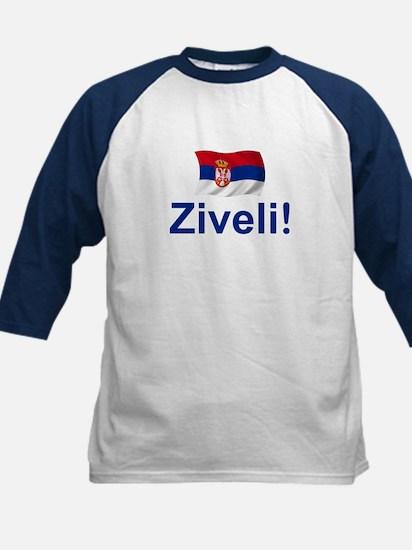 Serbia Ziveli Kids Baseball Jersey