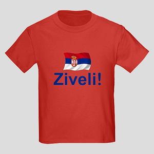 Serbia Ziveli Kids Dark T-Shirt