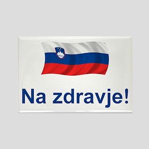 Slovenia Na zdravje Rectangle Magnet