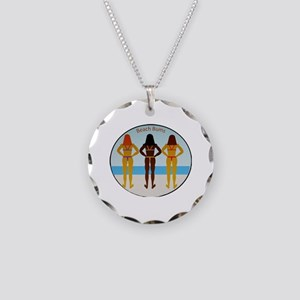 Beach Bums Necklace Circle Charm