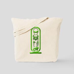 Alien-Egyptian Cartouche 6 Tote Bag