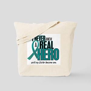 Never Knew A Hero 2 Teal (Sister) Tote Bag