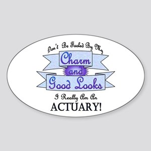 Actuary Really Oval Sticker