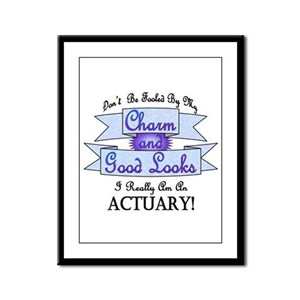 Actuary Really Framed Panel Print