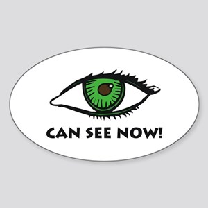 Eye Can See Oval Sticker