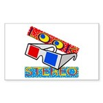 Anaglyph Rectangle Sticker 10 pk)