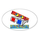 Anaglyph Oval Sticker