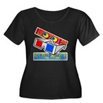 Anaglyph Women's Plus Size Scoop Neck Dark T-Shirt