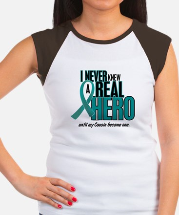 Never Knew A Hero 2 Teal (Cousin) Women's Cap Slee