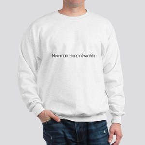 Neo Black Text Sweatshirt