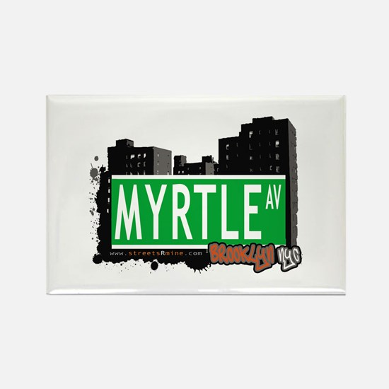 MYRTLE AV, BROOKLYN, NYC Rectangle Magnet