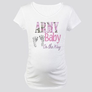 Army baby girl Maternity T-Shirt