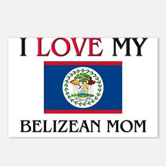I Love My Belizean Mom Postcards (Package of 8)