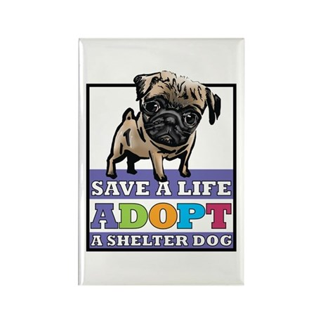 Adopt a Pug Rectangle Magnet (10 pack)