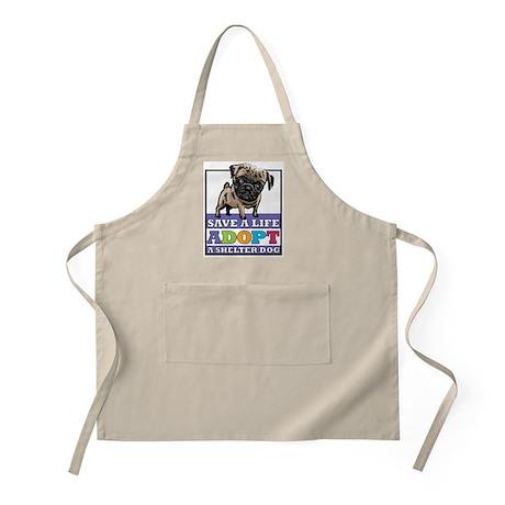 Adopt a Pug BBQ Apron