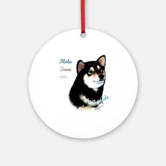 Black Shiba Best Friend 1 Ornament (Round)