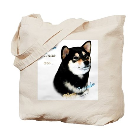 Black Shiba Best Friend 1 Tote Bag