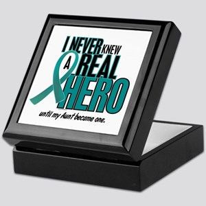 Never Knew A Hero 2 Teal (Aunt) Keepsake Box