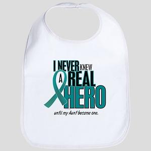 Never Knew A Hero 2 Teal (Aunt) Bib
