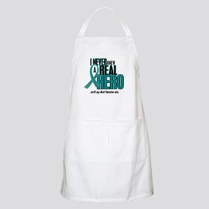 Never Knew A Hero 2 Teal (Aunt) BBQ Apron