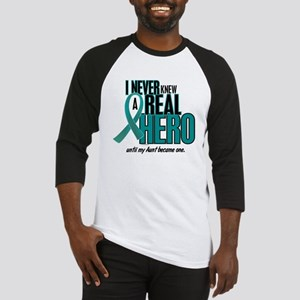 Never Knew A Hero 2 Teal (Aunt) Baseball Jersey